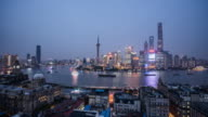 Time Lapse - Shanghai Skyline From Day to Night