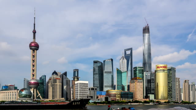 Time Lapse - Shanghai Skyline (Zoom Out)