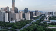 Time Lapse - Shenzhen Skyline From Day to Night (Panning)