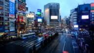 HD Time lapse : Shibuya crossing