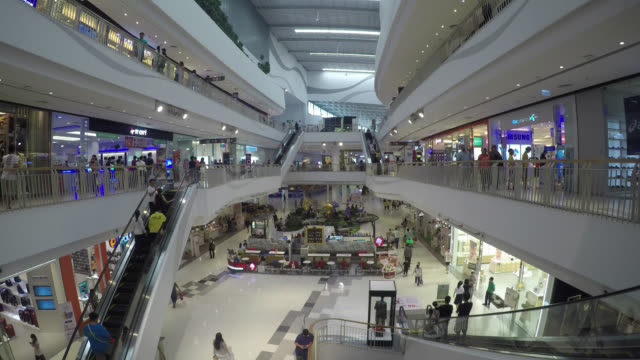 4K Time lapse shopping mall