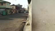 Time lapse shot of a busy side street in the city of Accra, Ghana.