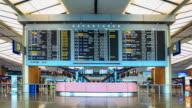 4K Time Lapse : singapore airport
