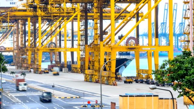 Zeitraffer: Singapur Hafen