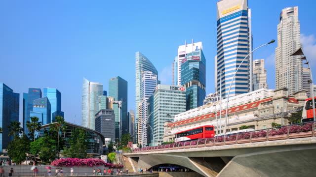 4K Time Lapse : Singapore skyline