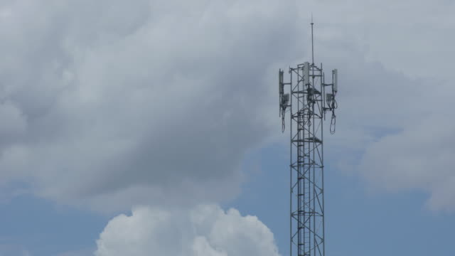 Time lapse sky and telephone tower