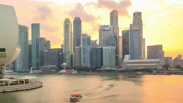 4K Time Lapse : Skyline of Central Business District