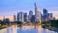 4K Time Lapse : Skyline Of Frankfurt Am Main