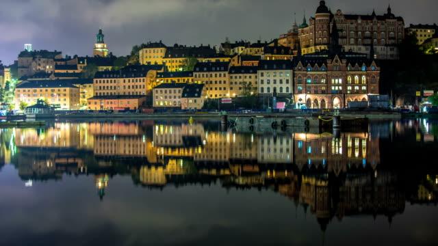 HD Time Lapse: Stockholm City Buildings on Hill Tilt