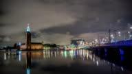 HD Time Lapse: Stockholm City Hall and Bridge Tilt