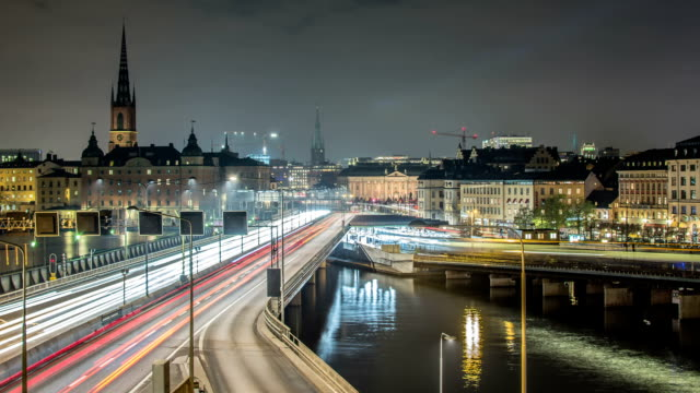 HD Time Lapse: Stockholm City Motion