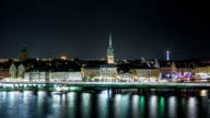 HD Time Lapse: Stockholm Cityscape at Night