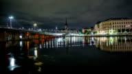 HD Time Lapse: Stockholm Old Town Railway Bridge Tilt