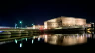 HD Time Lapse: Stockholm Palace at Night