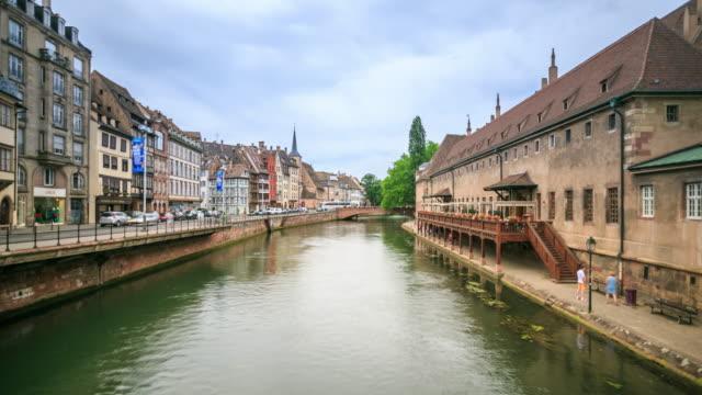 4K Time Lapse : Street view of Strasbourg