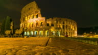 Time Lapse: Sunrise at The Colosseum in Rome, Italy in the morning
