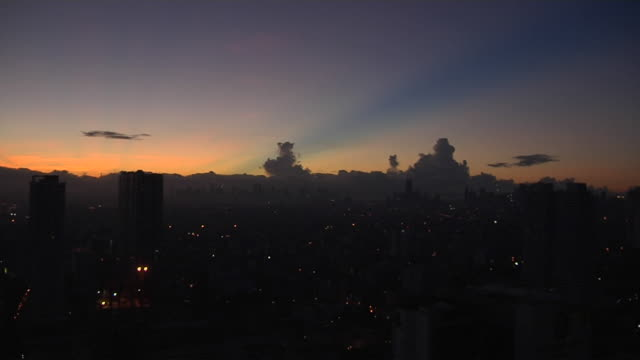 Time lapse sunrise Manila Metro Manila Phillipines