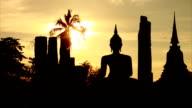 Time Lapse Sunset temple Thailand