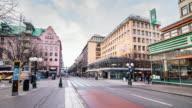 4K Time Lapse: Sweden Stockholm City Street