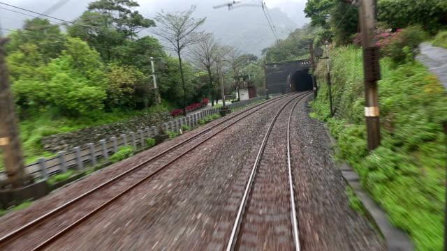 Time lapse Taiwan speed train