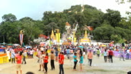Time Lapse: Tak Bat Devo Festivals in Uthaithani, Thailand.