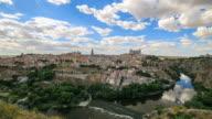 4K Time Lapse : The old spanish city Toledo