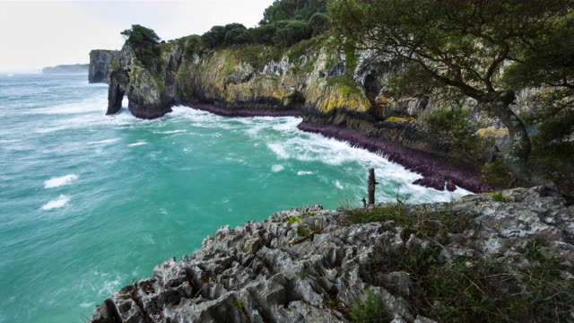 Time Lapse The Pindal, Rivadedeva council, Cantabrian sea, Asturias, Spain, Europe