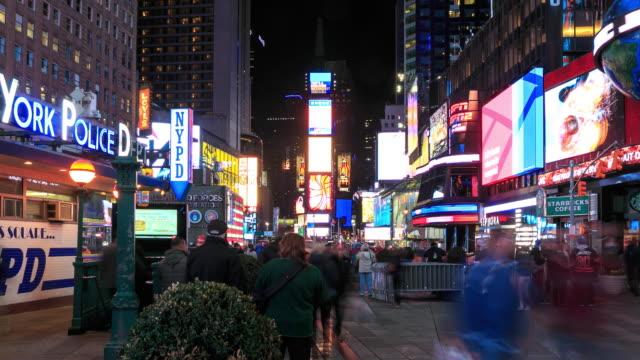 4K Time Lapse : Times Square New York