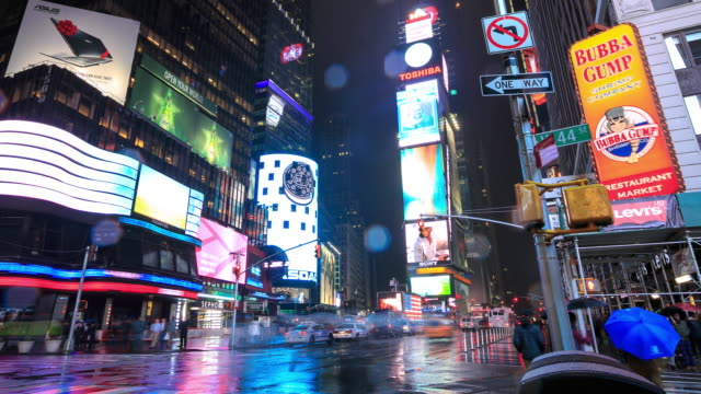 4K time-lapse: Times Square New York