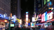 4K Time Lapse : Times Square New York