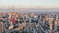 Time Lapse - Tokyo From Day to Night (Panning)