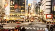 Time lapse - Tokyo, Shibuya Crossing at Dusk
