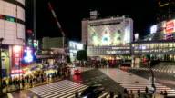 HD-Zeitraffer: Kreuzung Shibuya in Tokio, Japan