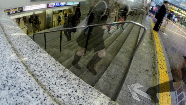 Time lapse, Tokyo, Shibuya persone a piedi nel stazione