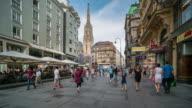 Time Lapse, Tourist waking at Vienna town centre, Vienna