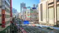 4K Time Lapse : Traffic at Shinjuku Tokyo