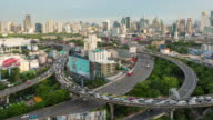 4K Time Lapse : traffic highway in building area Business Finance and Industry
