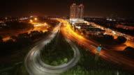 Time Lapse: Traffic nightscape of Kuala Lumpur city