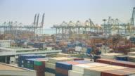 4K Time Lapse :transshipment port