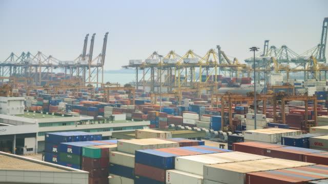 Intervallo di tempo 4k: porto di trasbordo
