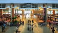 4K Time Lapse : Traveler at Airport Departure
