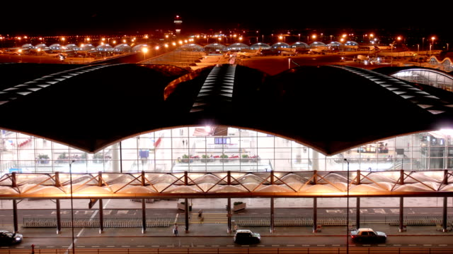 Time Lapse Video of Airport Terminal