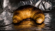 Time Lapse video of Baking Croissant until it's scorched