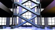 Zeitraffer video von Rolltreppen im Einkaufszentrum