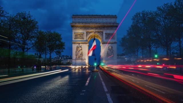 Time lapse video of traffic at Paris