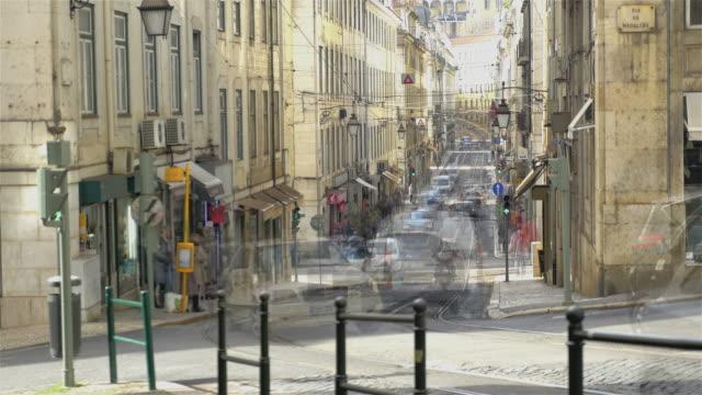 Time lapse video of tram in Lisbon in 4K