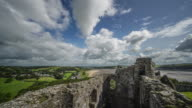 A Time Lapse view from the very top of Llansteffan Castle looking out over the river Tywi.