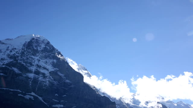Time lapse view of clouds gathering around Eiger, North Face