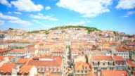 4K Time Lapse : View of Lisbon