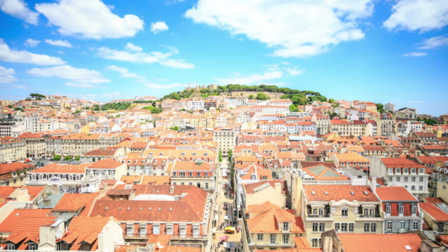4K Time Lapse : View of Lisbon